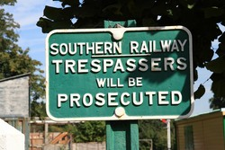 Signs - Filming at the Bluebell Railway